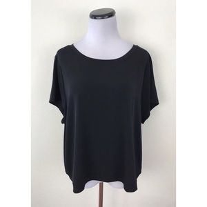 Lane Bryant Black Stretch Crop Top 18/20